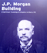 At the corner of Wall and Broad streets, the financial crossroads of the world, sits the house of Morgan. J. Pierpont Morgan Sr., the capitalist's capitalist-known throughout the world of finance, sought our for presidents and potentates-helped bankroll the industrialization of America. His influence was such that, during the financial panic of 1907, he orchestrated everything from the rescue of trust companies to the bailout of the New York Stock Change